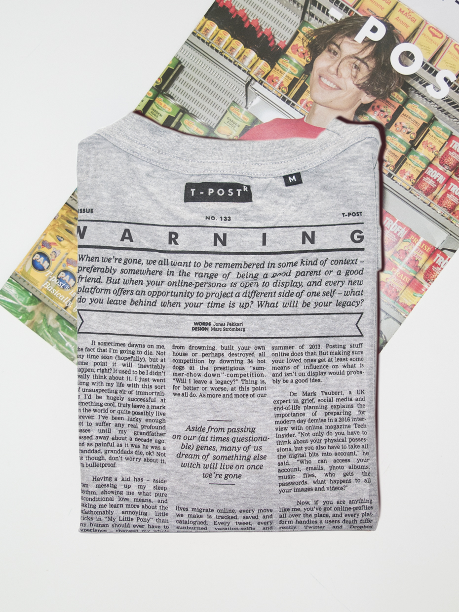 T-Post t-shirt issue 144
